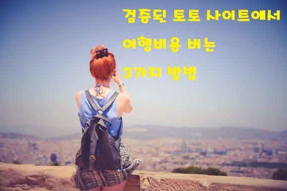안전한 검증받은 토토 사이트에서 수익내고 여행다녀온 후기